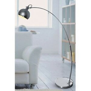 lampe arc mit dimmer lampadaire salon de lecture sol lumi re. Black Bedroom Furniture Sets. Home Design Ideas