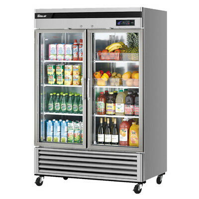 Turbo Air Tsr-49gsd-n Super Deluxe Two Section 54 Glass Door Refrigerator