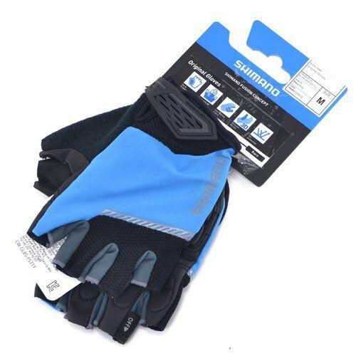 Shimano Original Half-Finger Bike Gloves, Blue x Black