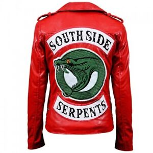 Riverdale Southside Serpents Slim fit women leather jacket