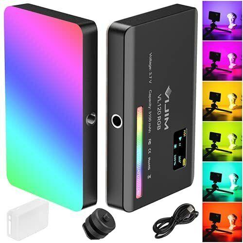 RGB Video Light Portable LED Camera Light CRI≥95 2500-9000K Dimmable Video Panel