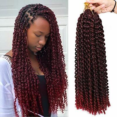 6 Packs Passion Twist Hair The Best for Crochet Braids 18Inch Water Wave