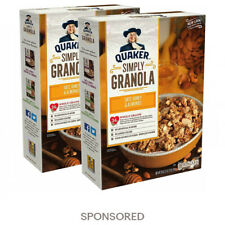 Quaker Simply Granola Oats Honey Almonds, Breakfast Cereal, 28 oz Boxes, 2 Boxes