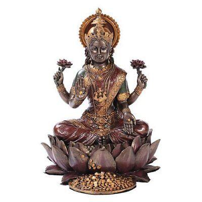 Hindu Goddess Sri Lakshmi Statue Shakti Of Vishnu Goddess Of Prosperity Figurine