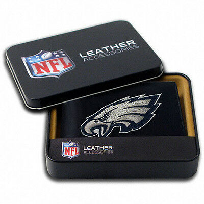 NFL Team Embroidered Leather Billfold Bi-fold Wallet ∗ Pick your Team ∗