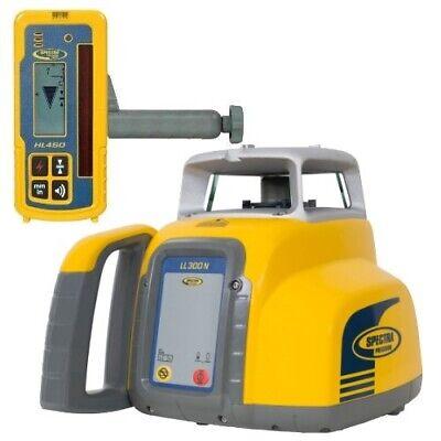 Spectra Laser Level Ll300n W Hl450 Receiver Nicad Batteries Charger