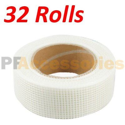 32 Rolls 65 Ft X 2 Self Adhesive Fiberglass Cloth Tape White Mesh For Drywall