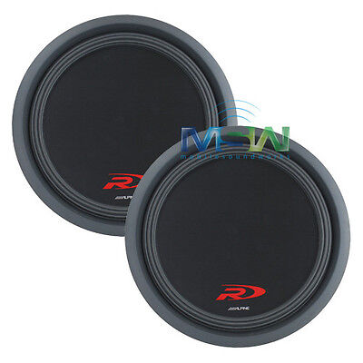 """(2) ALPINE SWR-T10 TYPE R-SERIES 10"""" 3600W SLIM CAR SUBWOOFERS SWR T10 *PAIR* for sale  Shipping to India"""