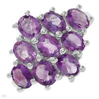 BRAND NEW BIG,BOLD & BEAUTIFUL GENUINE AMETHYST SIZE 7 RING
