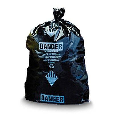 """Black Disposable Burial Poly Bags 36"""" x 60"""" - Printed"""