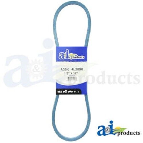 "A36K A-SECTION MADE WITH KEVLAR  (BLUE) V BELT - 1/2"" X 38"""