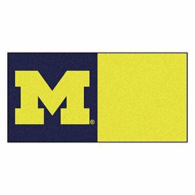 FANMATS NCAA University of Michigan Wolverines Nylon Face Team Carpet Tiles Fanmats Team Tiles