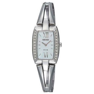 Seiko Women's Solar SUP083 Tressia Swarovski Crystal Watch
