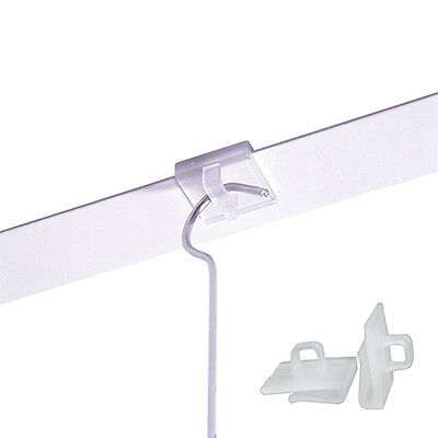 20 x Suspended Ceiling Clips Hangers, Clear Plastic Clips