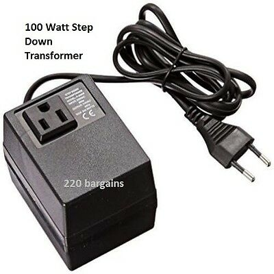220/240 To 110/120 Volt European Power Converter Step Down Transformer 100 watt