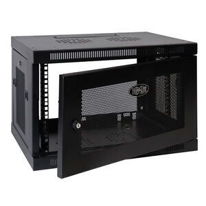 ISO used Wall mount 6u - 9u Equipment rack.