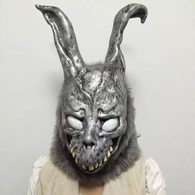 Donnie Darko FRANK the Bunny Rabbit MASK Latex Overhead with Fur Adult - Donnie Darko Frank The Bunny Costume