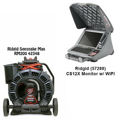 Ridgid Seesnake Max Reel 42348 Cs12x Monitor With Wifi 57288