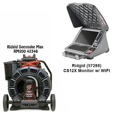 Ridgid Seesnake Max Reel 42348 Cs12x Monitor With Wifi 57288