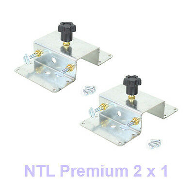 Two Pcs - Silk Screen Printing Press 2x1 Platen Bracket New Machine Screening