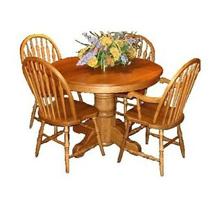 Oak Table with four Chairs