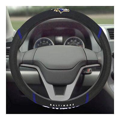Brand New NFL Baltimore Ravens Black Mesh Extra Grip Steering Wheel Cover (Ravens Steering Wheel Cover)
