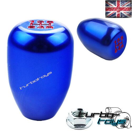 BLUE 5 SPEED BILLET ALUMINIUM GEAR KNOB Fits HONDA CIVIC INTEGRA CRX  M10x1.5