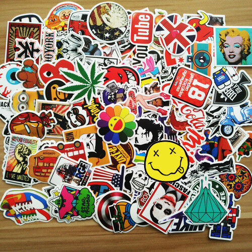 Home Decoration - 25/50/100/200pcs Skateboard Sticker Graffiti Laptop Car Luggage Decals Stickers