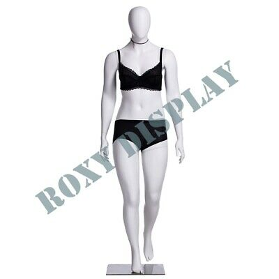 Female Plus Size Egg Head Mannequin Dress Form Display Mz-f3d01w
