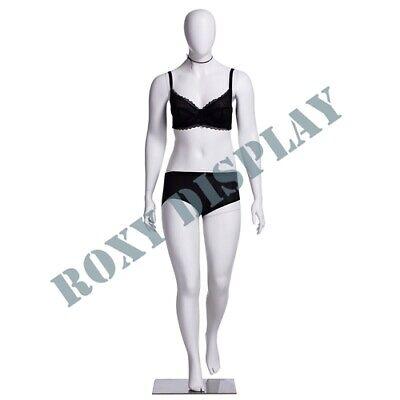 Female Plus Size Egg Head Mannequin Dress Form Display Mz-f3d01w