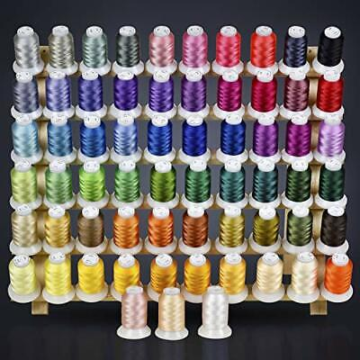 63 Colors Polyester Embroidery Machine Thread Kit 500M Every Spools