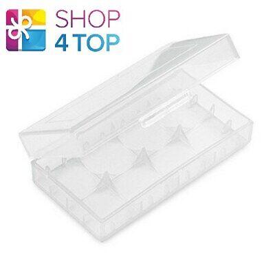 Batería Caja Case Para 2 18650 Baterías Almacenaje Plástico Transparente Nuevo