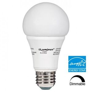 Luminus 10W A19 DIMMABLE LED Light Bulbs - 3000K , Replaces 60W
