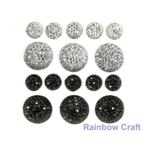 kaisercraft Bling Sparklets / Self Adhesive Rhinestones crystal ebony hearts - Ebony