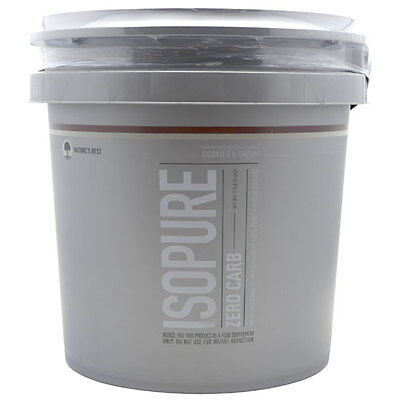 Natures Best - Isopure Zero Carb 7.5Lb Cookies and (Best Cookies And Cream Protein)