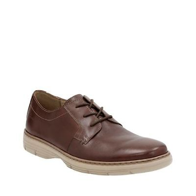 Clarks Casual Oxford (Clarks Watts Pace Men's Oxford Brown Leather Casual Shoes 26119637)