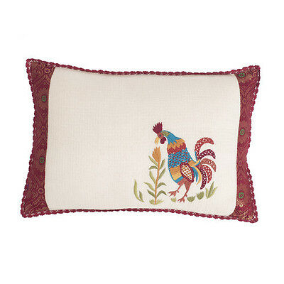 April Doodle (April Cornell Embroidered Rooster Throw Pillow Doodle Doo)