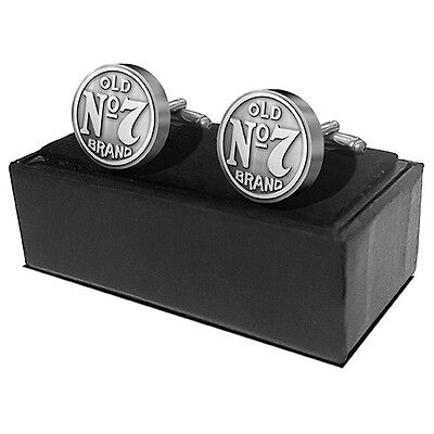 Jack Daniels Bug Logo Set of 2 cuff links metal Cuflinks Wedding Fathers Gift ()