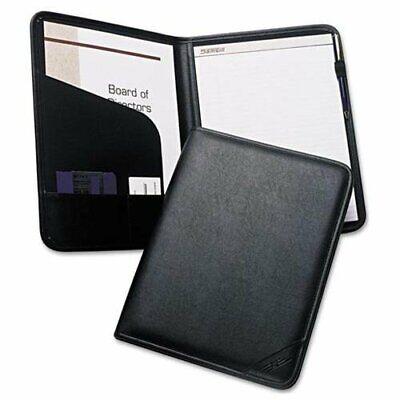 Samsill Sterling Writing Pad - Letter - 8.50 X 11 - Vinyl - Black - 1 Each