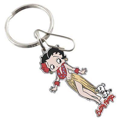 Betty Boop Enamel Keychain (Betty Boop Aloha Enamel Key Chain                            )
