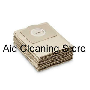 10x Pack Of Karcher Vacuum Hoover Paper Filter Bags 6.959-130.0 / 69591300 AB27