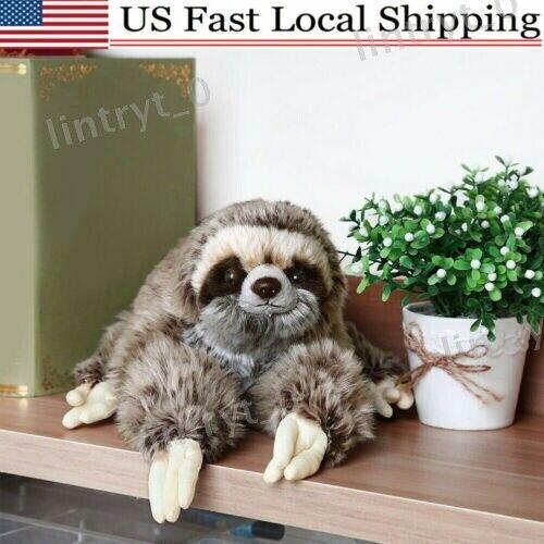 Cute Giant Sloth Stuffed Plush Doll Wild Animal Toy Kid Gift 35cm Non-toxic