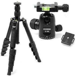 HORUSBENNU DSLR Traveler Camera Tripod FX-5523TTA+Ballhead FX-30DL[Black]w/ Case