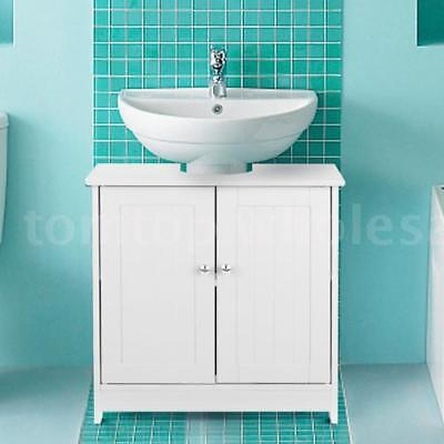Under Sink Pedestal Bathroom Storage Vanity Cabinet Space Saver Organizer W1X8