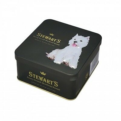 Westie Luxury Shortbread Biscuits- Square Tin 125g