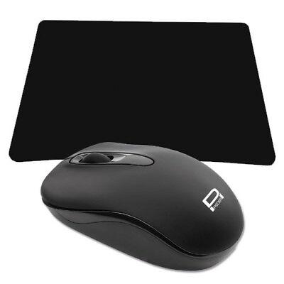 Kabellose optische 3 Tasten Maus Funkmaus für Notebook / Laptop / PC / + Mauspad