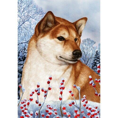 Winter Garden Flag - Shiba Inu 153251