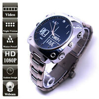Spy 1080P Watch Camera Night Vision Full HD Infra Red LEDs Cam