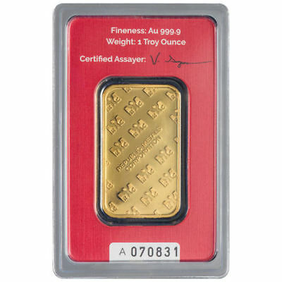 Купить 1 oz RMC Gold Bar (New w/ Assay)