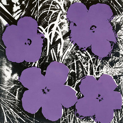 Flowers  C 1964  4 Purple  By Andy Warhol Floral Flower Art Print Poster 11X14